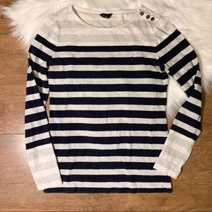 Nautica Striped Long Sleeve Shirt | Size Small